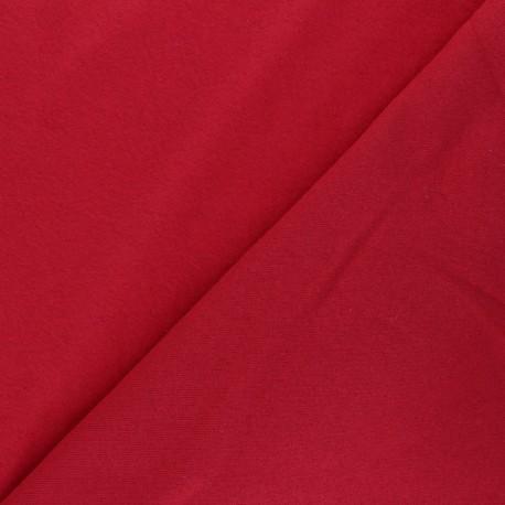 Tissu sweat Comfy - rouge x 10cm