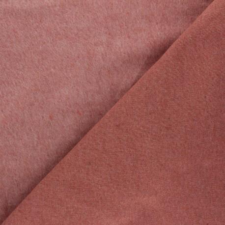 Tissu sweat Comfy - rose thé x 10cm