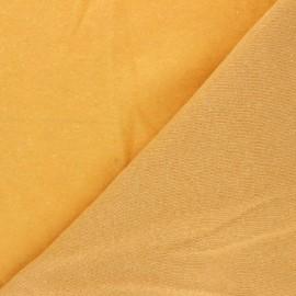 Sweatshirt fabric - mustard yellow Comfy x 10cm