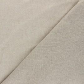 Sweatshirt fabric - greige Comfy x 10cm