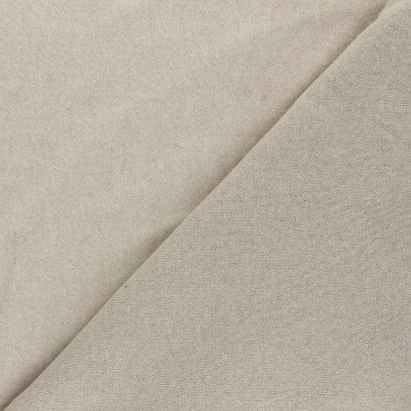 Tissu sweat Comfy - grège x 10cm