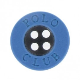 Bouton Polo Club bleu