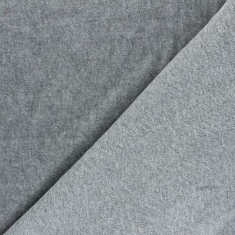 Tissu sweat Comfy - gris clair x 10cm
