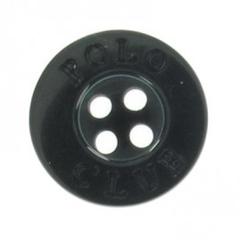 Button, Polo Club - black