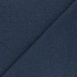 Tissu jersey recyclé Unic - bleu houle x 10cm