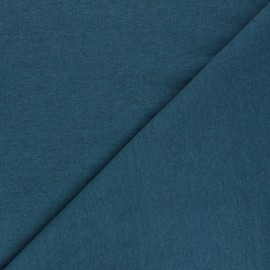Recycled jersey Fabric - duck blue Unic x 10cm