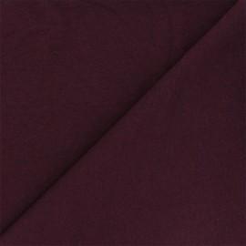 Tissu jersey recyclé Unic - lie de vin x 10cm