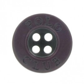 Button, Polo Club - plum