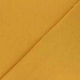 Tissu jersey recyclé Unic - jaune moutarde x 10cm