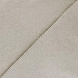 Tissu jersey recyclé Unic - grège x 10cm