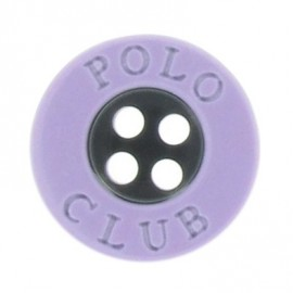 Button, Polo Club - mauve