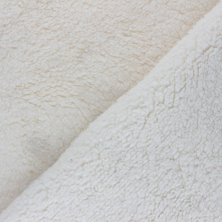 Tissu fourrure mouton Stockholm- écru x 10cm