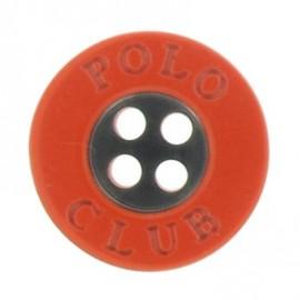 Bouton Polo Club orange