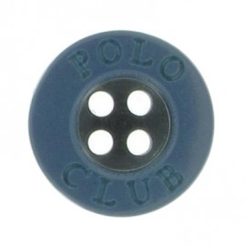 Bouton Polo Club bleu gris