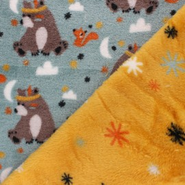 Double sided baby's security blanket - teal blue Willy x 10cm