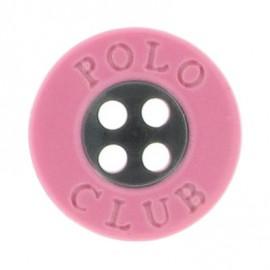 Bouton Polo Club rose