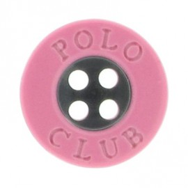 Button, Polo Club - pink