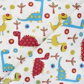 Tissu coton cretonne Docus - multicolore x 10cm