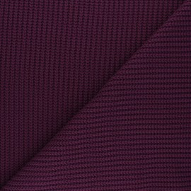 Ribbed knit fabric - purple red Mila x 10cm