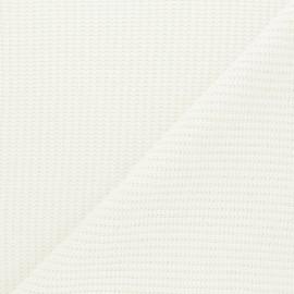 Tissu Maille côtelé Mila - écru x 10cm