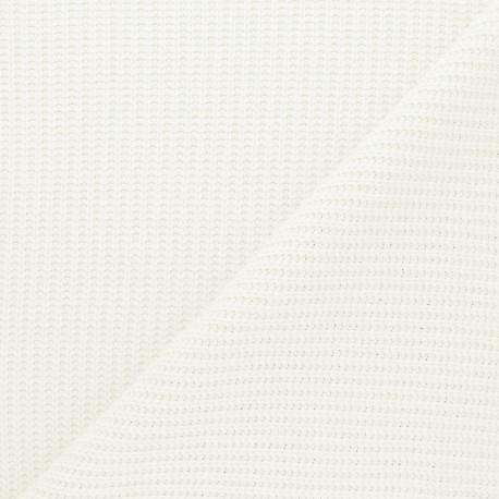 Ribbed knit fabric - raw Mila x 10cm
