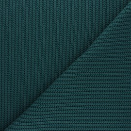 Ribbed knit fabric - peacock green Mila x 10cm