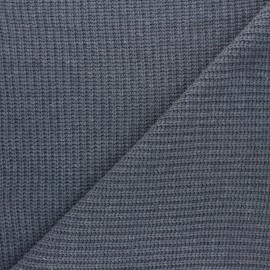 Ribbed knit fabric - blue grey Mila x 10cm