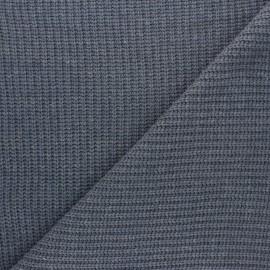 Tissu Maille côtelé Mila - gris bleu x 10cm