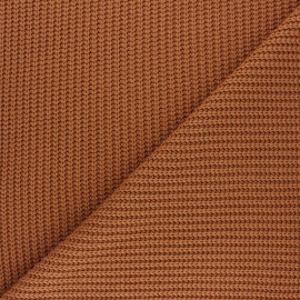 Ribbed knit fabric - caramel Mila x 10cm