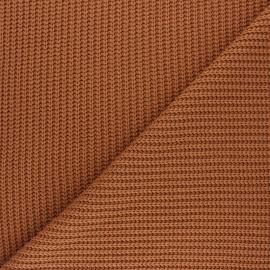 Tissu Maille côtelé Mila - caramel x 10cm