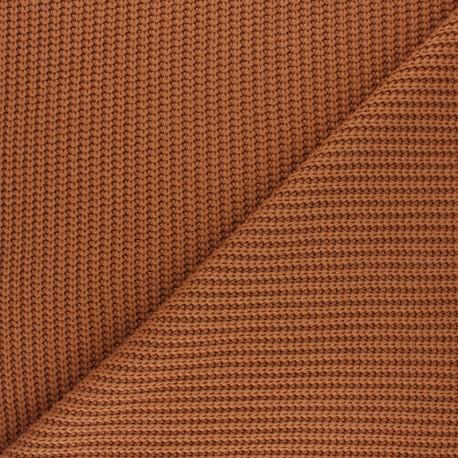 Ribbed knit fabric - caramel Mila x 10cm