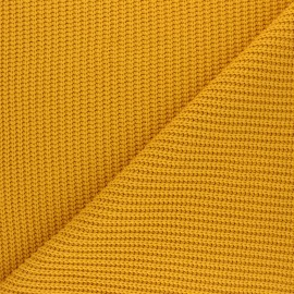 Ribbed knit fabric - mustard yellow Mila x 10cm