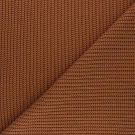 Ribbed knit fabric - camel Mila x 10cm