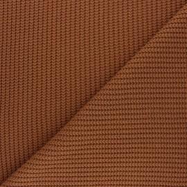Tissu Maille côtelé Mila - camel x 10cm