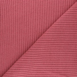 Ribbed knit fabric - raspberry Mila x 10cm