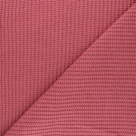 Ribbed knit fabric - raspberry Mila x 10cm