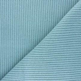 Tissu Maille côtelé Mila - sarcelle céladon x 10cm