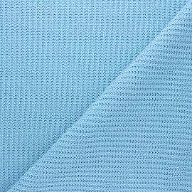 Ribbed knit fabric - sky blue Mila x 10cm