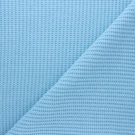 Tissu Maille côtelé Mila - bleu ciel x 10cm