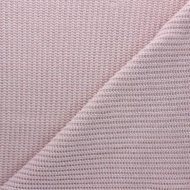 Ribbed knit fabric - water pink Mila x 10cm