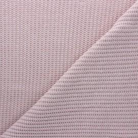 Tissu Maille côtelé Mila - eau de rose x 10cm