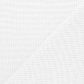 Tissu Maille côtelé Mila - blanc x 10cm