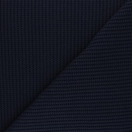 Ribbed knit fabric - navy blue Mila x 10cm