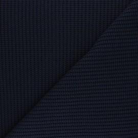 Tissu Maille côtelé Mila - bleu marine x 10cm