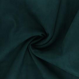 Milano suede fabric - peacock green Kaia x 10cm