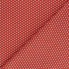 Tissu coton Popeline Poppy - Mini Etoiles - tomette x 10cm