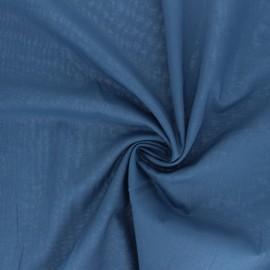 Tissu voile de coton - bleu houle x 10cm