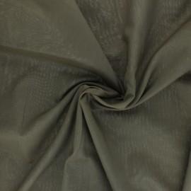 Tissu voile de coton - vert kaki x 10cm