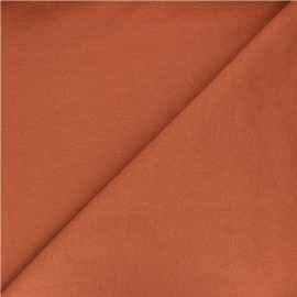 Tissu polycoton - roux x 10cm