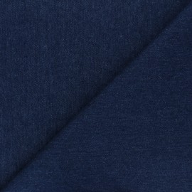 Jeans fabric - navy blue x 10cm